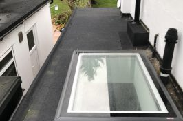 flat roof with skylight