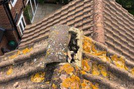 Roof tile in need of repair